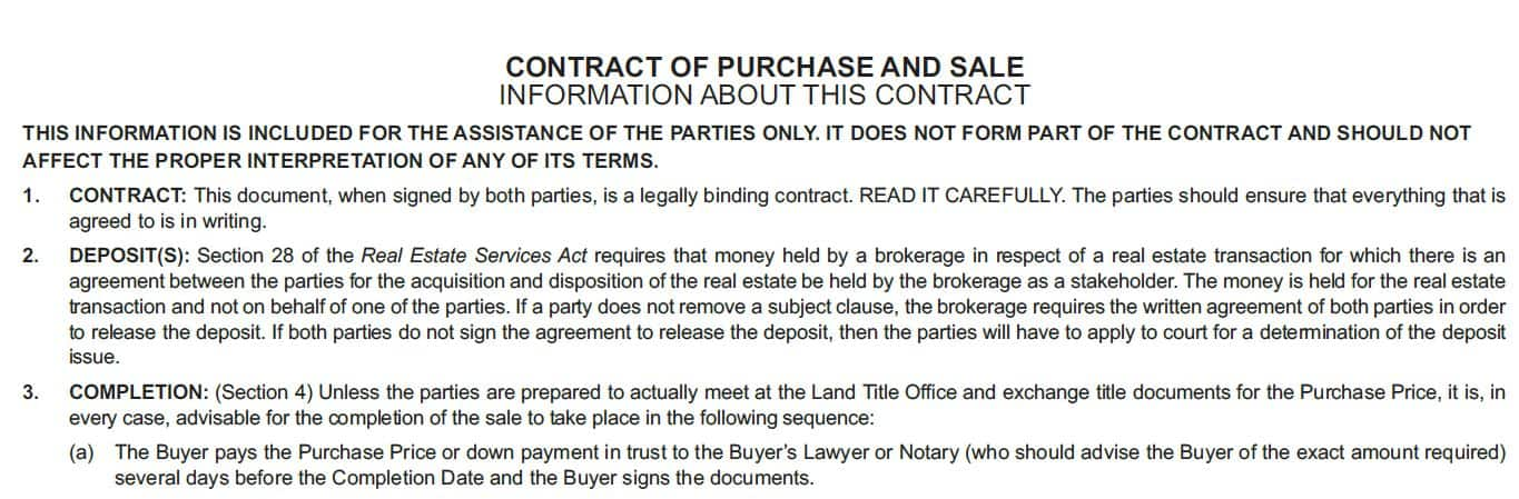 information about this contract