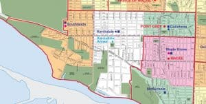 Point Grey Secondary School Catchment Map