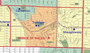 Prince of Wales Secondary School Catchment Map