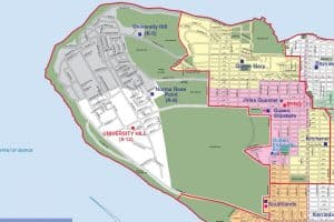 University Hill Secondary School Catchment Map