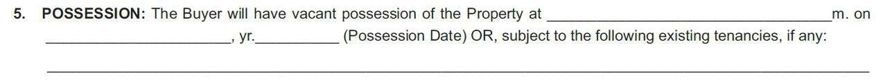 possession date