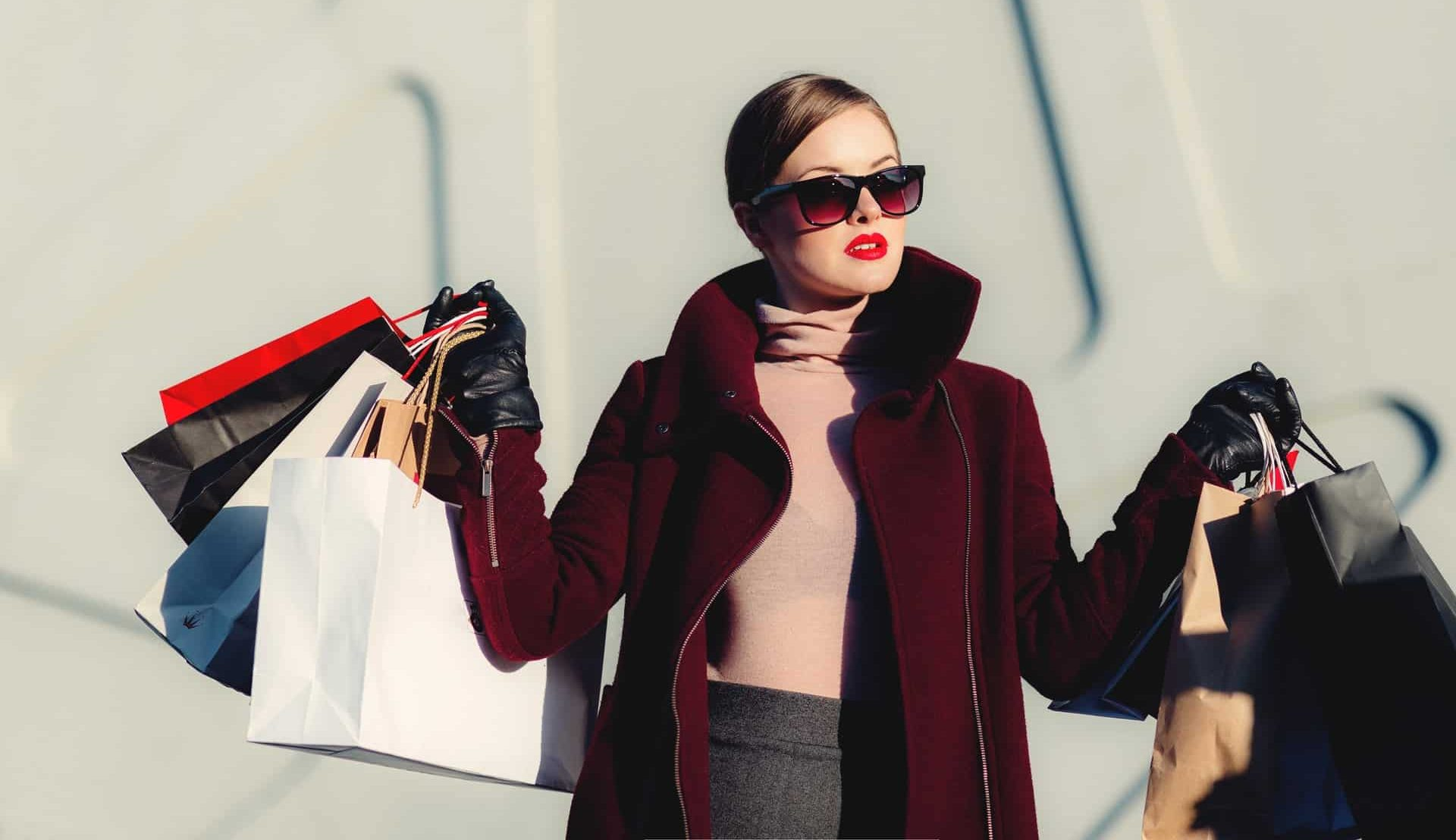 A girl shopping in Downtown Vancouver